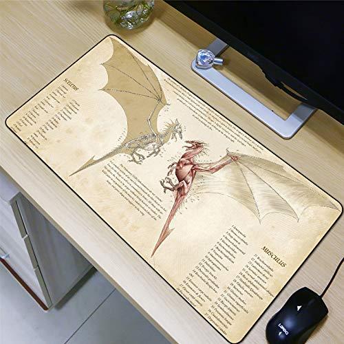 WeTTao Pad Tier Köln 800x300mm mauspad Gaming groß Mousepad rutschfest Schreibtischunterlage Maus Pad Große Locking Rand Geschwindigkeit Gummi Computer Schreibtisch Matte
