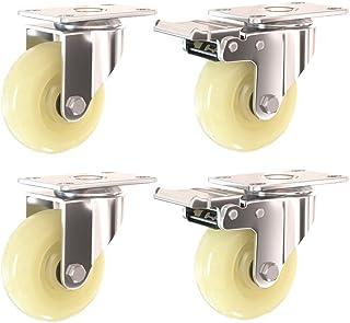 Nylon zwenkwielen (75 mm / 100 mm / 125 mm), een set van 4, trolley zwenkwiel met rem 锛