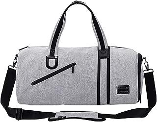 Rjj Men's Travel Bag One Shoulder Large Capacity Sports Bag Fitness Bag Multifunction Hand Bag Exquisite (Color : Gray)