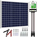 SOLPERK 30W Solar Panel,12V Solar Panel Charger Kit+8A Controller, Suitable for Automotive, Motorcycle, Boat, ATV, Marine, RV,...
