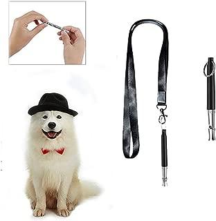 Professional Silent Dog Whistle to Stop Barking -Adjustable Ultrasound Dog Whistle Set lanyard