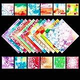 DIFIER Papel de origami de doble cara para niños, 200 hojas, 15 x 15 cm, papel decorativo cuadrado para proyectos de manualidades (flores de arroz)