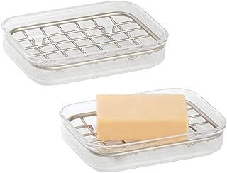 bayetas y dem/ás Productos de Limpieza MetroDecor mDesign jabonera para organizar Sus Accesorios Cocina Portaestropajos de Metal Resistente Mantenga en Orden Sus esponjas