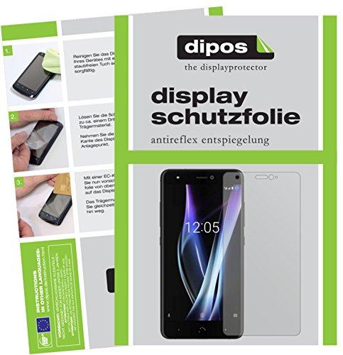 dipos I 2X Schutzfolie matt kompatibel mit BQ Aquaris X Pro Folie Bildschirmschutzfolie