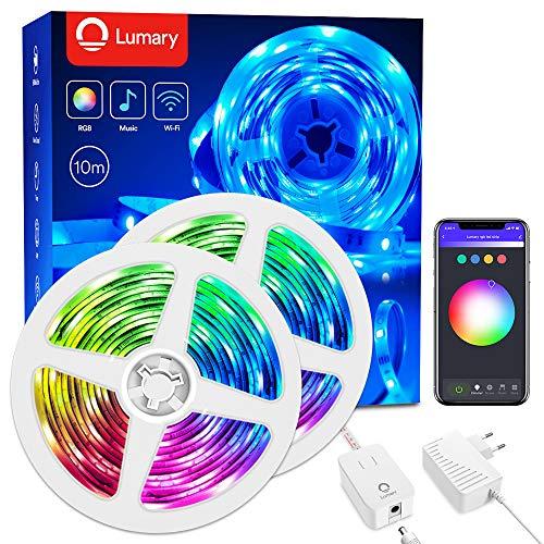 Smart Strisce LED, Lumary 10m Wi-Fi RGB Led Striscia dimmerabile compatibile con Alexa,Google Home, Funzione Timer, Luce Nastro Luminoso Flessibile per Natale, Bar, Decorazioni