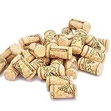 Enkrio Corcho de vino nuevo #8 corcho aglomerado natural recto tapón de corcho para embotellado de vinos o manualidades a granel corchos de 3,9 x 1,9 cm (paquete de 50)