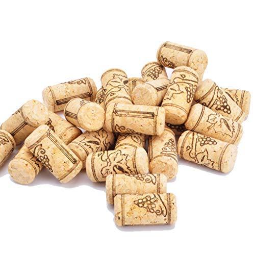 Enkrio - Tappo in sughero per vino #8, per imbottigliamento di vini o tappi in sughero, 1-3/5' x 12,7 cm (confezione da 50)
