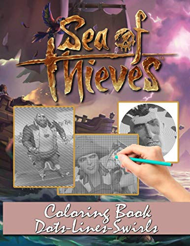 Sea Of Thieves Dots Lines Swirls Coloring Book: Collection Diagonal-Dots-Swirls Activity Books For Adults