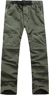 Uni Clau Men's Casual Hiking Pants - Convertible Outdoor Fishing Safari Work Trousers