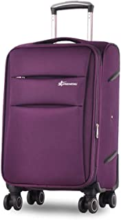 YCYHMYF Trolley Oxford Cloth Suitcase Luggage Password Boarding Case Travel Business Box (Purple 24 Inch)