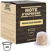 Note d'Espresso - Lot de 40 capsules d'infusion - Exclusivement compatible avec machine Nespresso* - Gingembre - 40 x 2 g