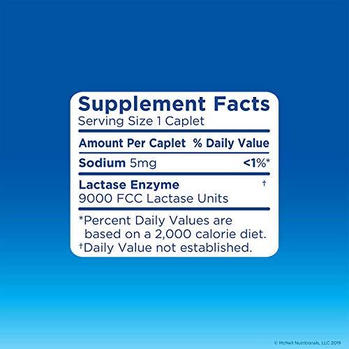 Lactaid-Fast Act Lactase Enzyme Supplement, 180ct Caplets (2 Pack Bonus Size)