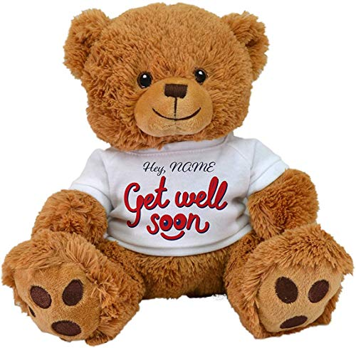 Special Edition Customized GET Well Soon Teddy Bear ,Plush Toy Stuffed Animal Feel Better,Sick Gifts,