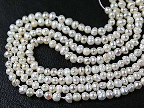GemAbyss Beads Max 78% OFF Gemstone Natural White Rondell Smooth Pearl Loose shipfree