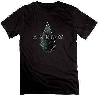 Sun-Tshirt Men's Green Men Arrow Oliver Queen T-Shirt