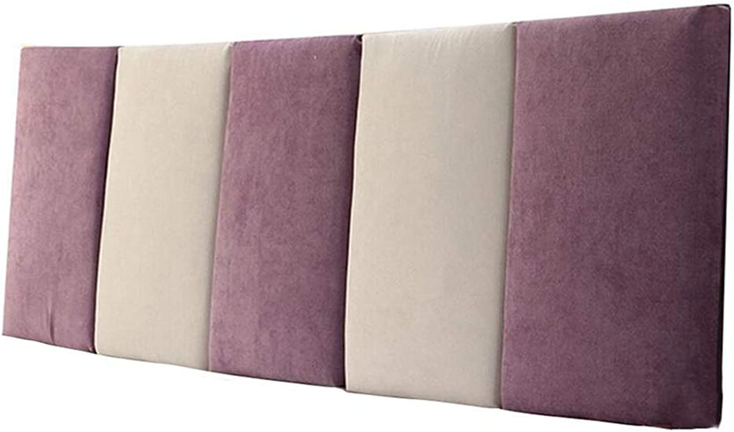 WENZHE Upholstered Fabric Headboard Bedside Cushion Pads Cover Bed Wedges Backrest Waist Pad Soft Case Washable Cloth Waist Belt Backrest Home, 3 colors (color   B-Purple, Size   120x55x5cm)