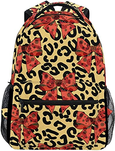 School College Backpack Rucksack Travel Bookbag Outdoor Leopard Print and Roses