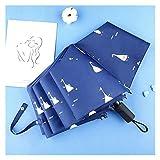 SXYRN Paraguas automático para Mujer, Resistente al Viento, Resistente al Agua, Tres Paraguas de Aluminio Plegables, para Lluvia, para Mujer, para Hombre, para niños, Paraguas (Color: Blanco)