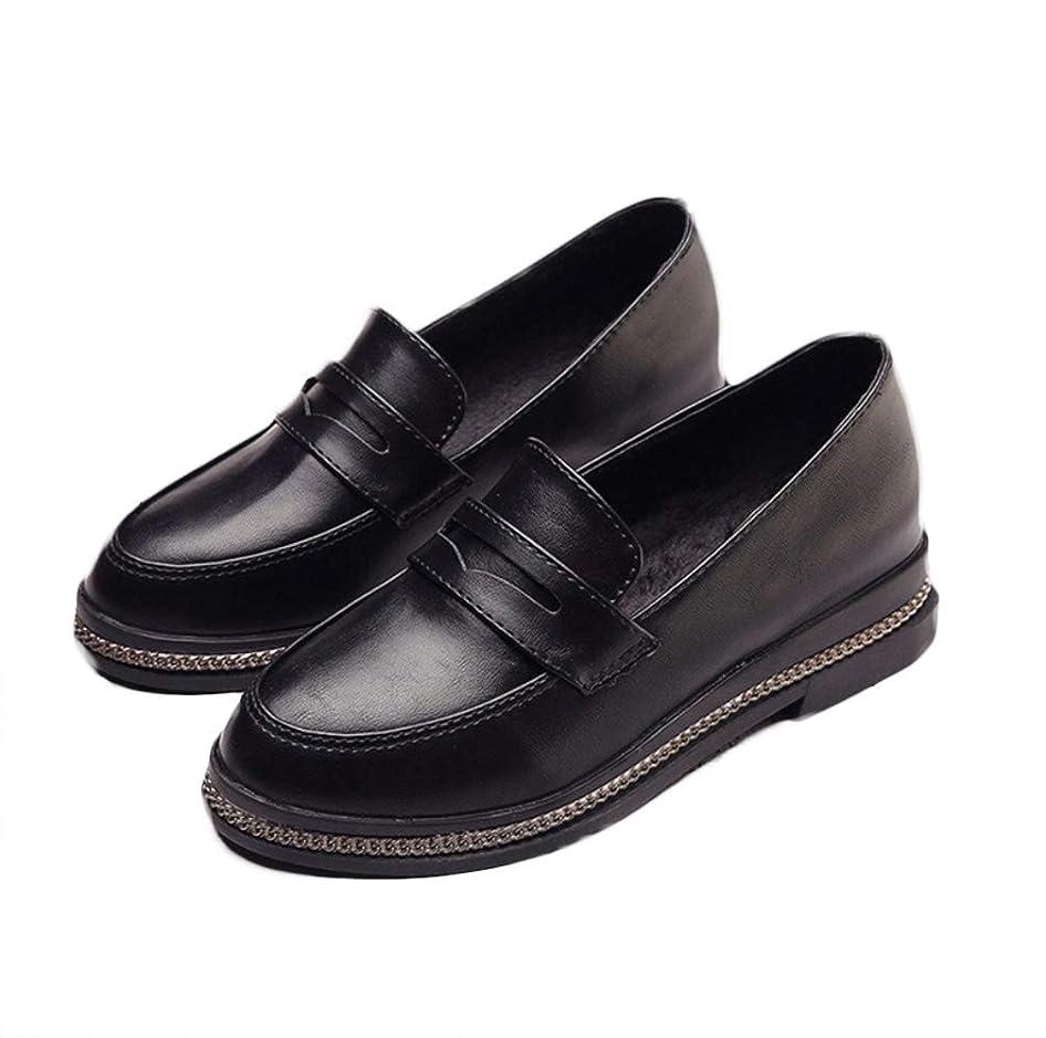 強調温室酔って[Wanghong] ローファー トラディショナル 通学 通勤 学校履き 学生靴 レディス ブラック2色