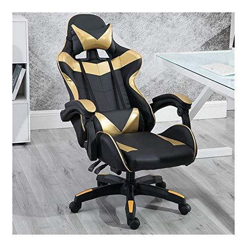 N/Z Sedie per Attrezzature quotidiane Scrivania da Ufficio da Gioco Girevole Design ergonomico Resistente con Cuscino e Supporto per Schienale reclinabile S (Colore: Rosa)