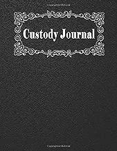 Custody Journal: Visitation, Communications, Child Support, Expenses Log, Black Cover