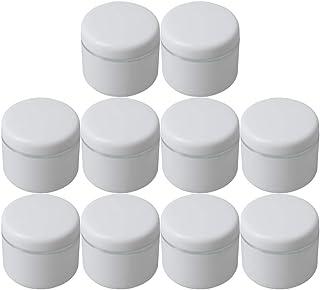 Diystyle 10個入 クリームケース 空ポット 空容器 化粧品用 30g 詰替え ホワイト