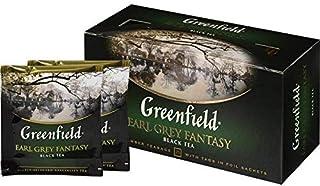Greenfield Schwarzer Tee, Earl Grey Fantasie, 25 Teebeutel in einer Box 10er kiste