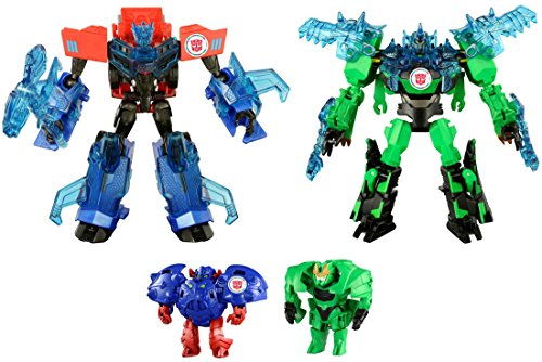 Transfomers TAV45 Optimus Prime and Grimlock Supreme Armor SetTAKARATOMY