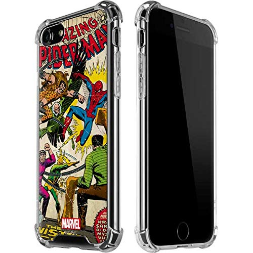 Skinit Clear Phone Case for iPhone 7 - Officially Licensed Marvel/Disney Spider-Man vs Sinister Six Design