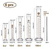 cococity Juego de cilindros graduados de vidrio Herramientas de medición de...