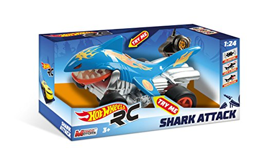 Mondo- Hot Wheels Shark Attack Macchina Radiocomandata, Multicolore, 1, 63504