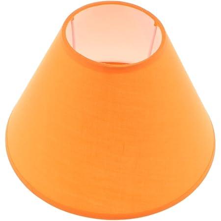 Homyl E27 Abat-jour Lampe Suspendue Ombre Forme en Cône pour Plafonnier lampe de Table Décoration Chambre Salon - Orange