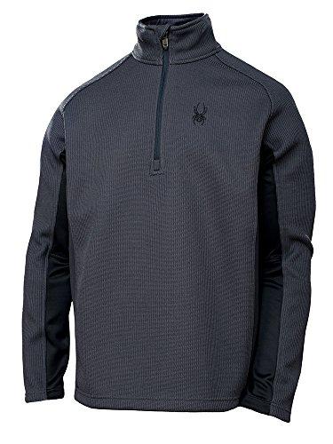 Spyder Men's Outbound Half Zip Midweight Core Sweater SLE-BLK-SLE XL