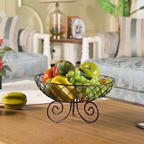 XFSE Decoración para el hogar Salón de estar Fruta Plato creativo Fruta Cuenca Fruta Moda Europea Caramelo Plato de Frutas Secas Cuenca de Lujo 28 * 15 cm (Color: Latón)