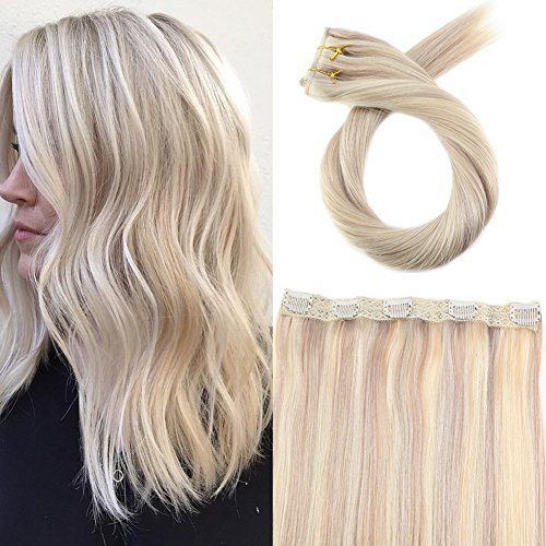 Moresoo One Piece Clip in Human Hair Extensions