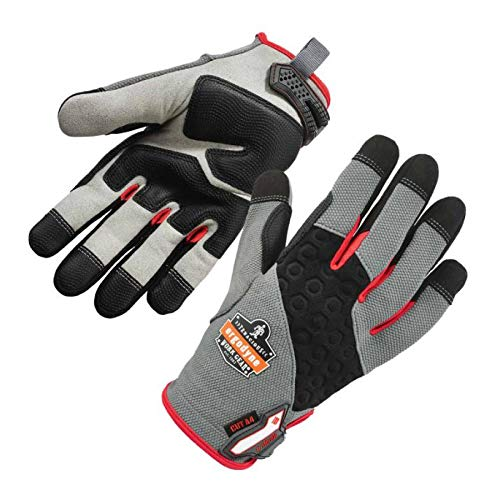 Cut Resistant Work Gloves, Level 4, CR Protection on Palm, Ergodyne ProFlex 710CR,Gray,XL