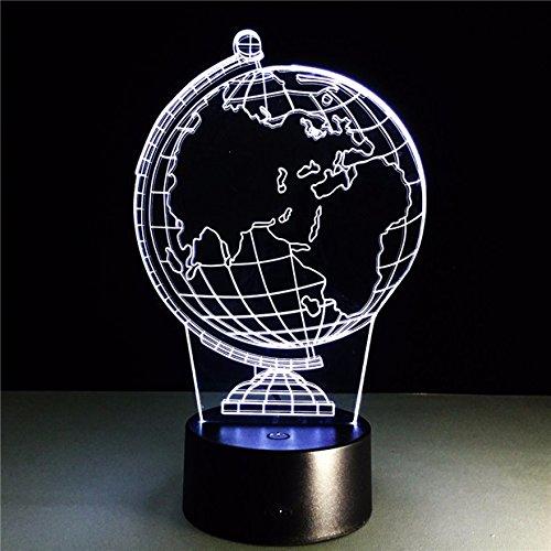 La Terre Lumière De Nuit 3D Illusion Lampe De Table Led 16 Couleur Tactile Télécommande Humeur Lampe Usb Maison Chambre Lampe De Chevet Cadeau D'Anniversaire Pour Petit Bébé