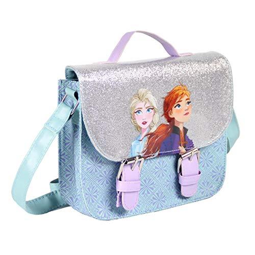 CERDÁ LIFE'S LITTLE MOMENTS Mädchen Frozen 2 Handtasche | Die Eiskönigin Umhängetasche Offizielle Lizenz, Blau, S