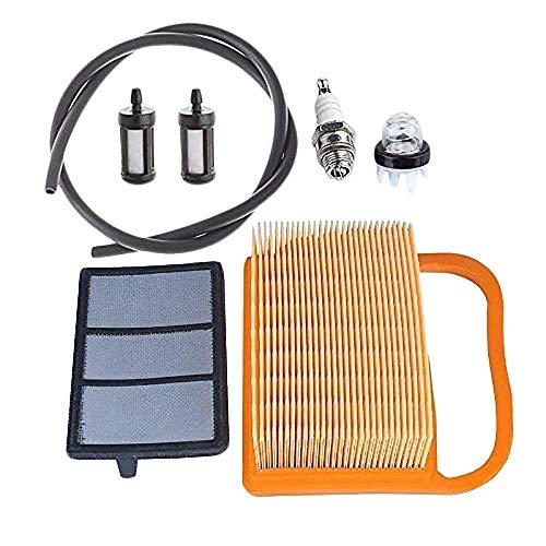 Kanza Luftfilter mit Amorce-Glühbirne Set für Leuchtmittel für Betonschneider Ts410 Ts410Z Ts420 Ts420Z