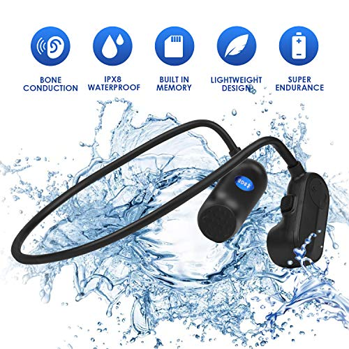 Zwemmen Mp3-speler Bluetooth 5.0 Beengeleiding Bluetooth Headset IPX8 waterdichte 8G geheugen Draadloze Sport Headset