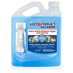 Bleach-free, biodegradable & unlimited shelf life Cleans moss, mold, mildew and algae stains Convenient ready-to-use formula with attached sprayer Coverage: 60-180 square feet Easy spray & leave formula; No scrubbing or rinsing