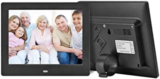 Digital Photo Frame 8 Inch 800x600 HD IPS LCD and Motion Sensor, Support MP3,720P/1080P Video Player,Calender,E-Book, Remo...