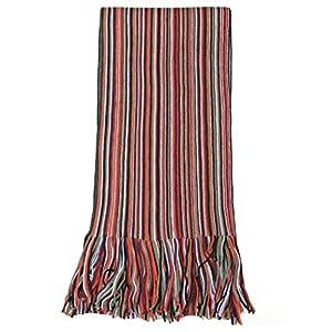 Lovarzi Men's Scarf – Beautiful Fine Merino Wool Winter Striped Scarf for Men
