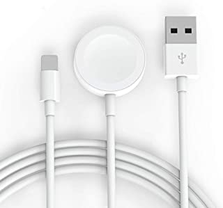 Wellbuy Magnetic Wireless Charger for Apple Watch, 2 in 1 Smartwatch Charger & iPhone Charging Cable Compatible with for Apple Watch Series 4/3/2/1& iPhone 11/XR/XS/XSMax/X/8/8Plus/iPad4/iPadAir