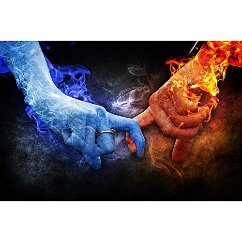 Puzzle Jigsaw Romantic Love Ice and Fire Super Difficult Adult Wooden Educational Toys Decorative Gift 500-6000 Pieces 0319 (Size : 3000 Pieces)