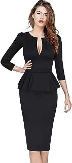 Womens Elegant V Neck Business Office Pencil Bodycon Sheath Dress