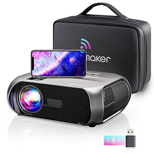 Bomaker Proyector WiFi, 1080P Nativo Full HD 6500 Lúmenes Proyector Portátil, 300