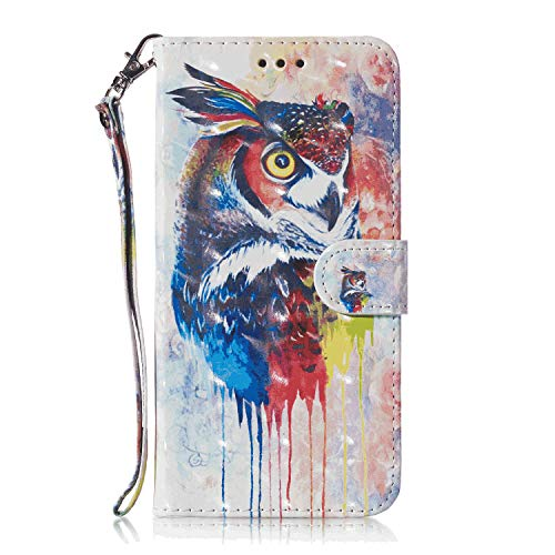 Leather Cover Compatible with Samsung Galaxy S10e, owl Wallet Case for Samsung Galaxy S10e