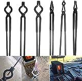 Schmiedezange, Schmiedezange, Werkzeug-Set enthält 1/4 flache Backen, Pick-Ups, Schnörkeln, 3/8 1/2 5/8 V-Bit Zange (6 Stück)