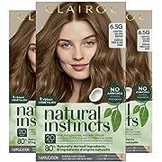 Clairol Natural Instincts Semi-Permanent, 6.5G Lightest Golden Brown, Amber Shimmer, Pack of 3